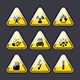 Icons Warning Signs of Danger - GraphicRiver Item for Sale