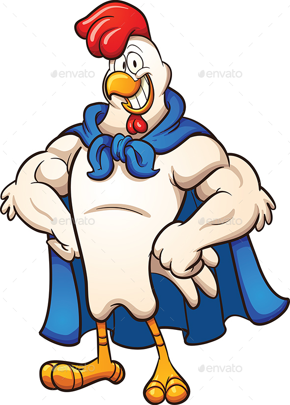 Super Chicken - Animals Characters