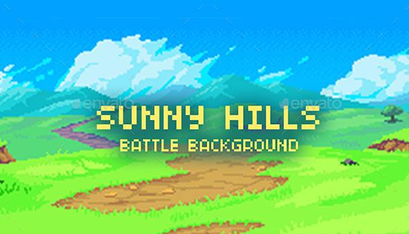 Sunny Hills - Battle Background - Backgrounds Game Assets