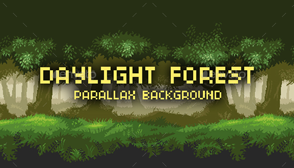 Day Light Forest - Parallax Background - Backgrounds Game Assets