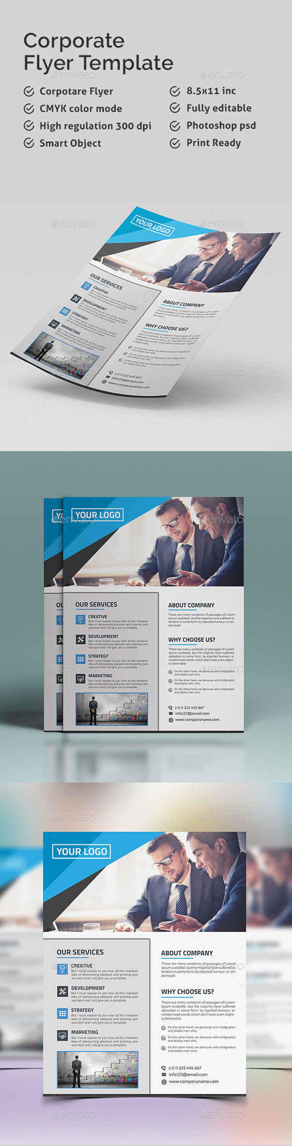 Flyer Template   - Corporate Flyers
