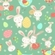 Easter Cartoon Seamless Pattern
