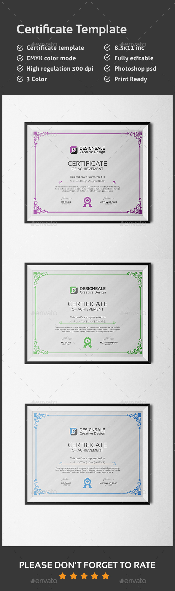 Modern Certificate - Certificates Stationery
