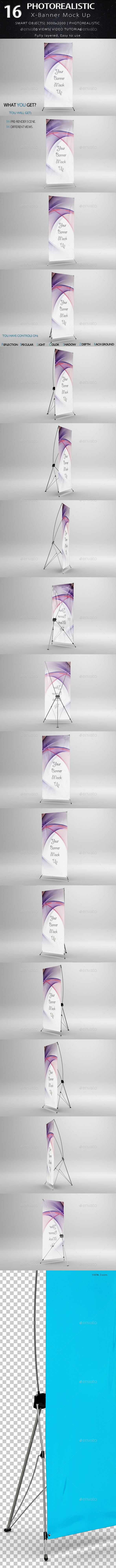 X-Banner Mock Up - Product Mock-Ups Graphics