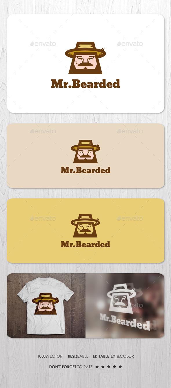 Mr Bearded Logo - Humans Logo Templates