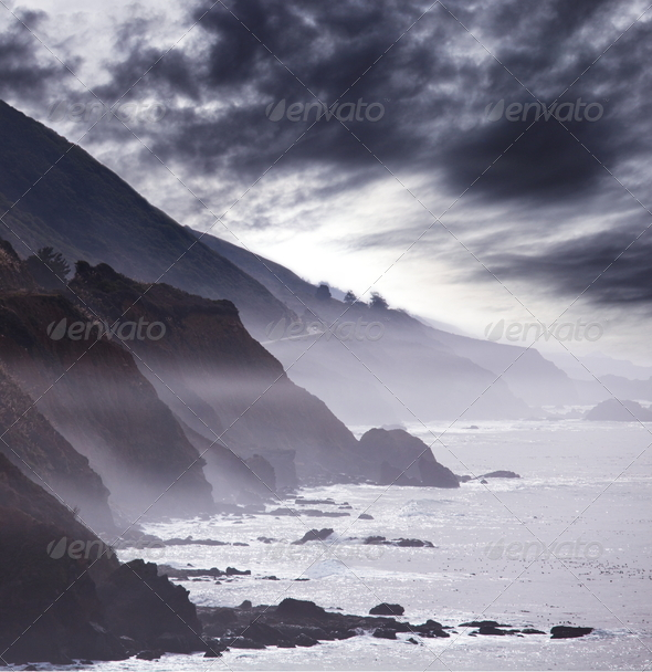 Storm on the sea - Stock Photo - Images