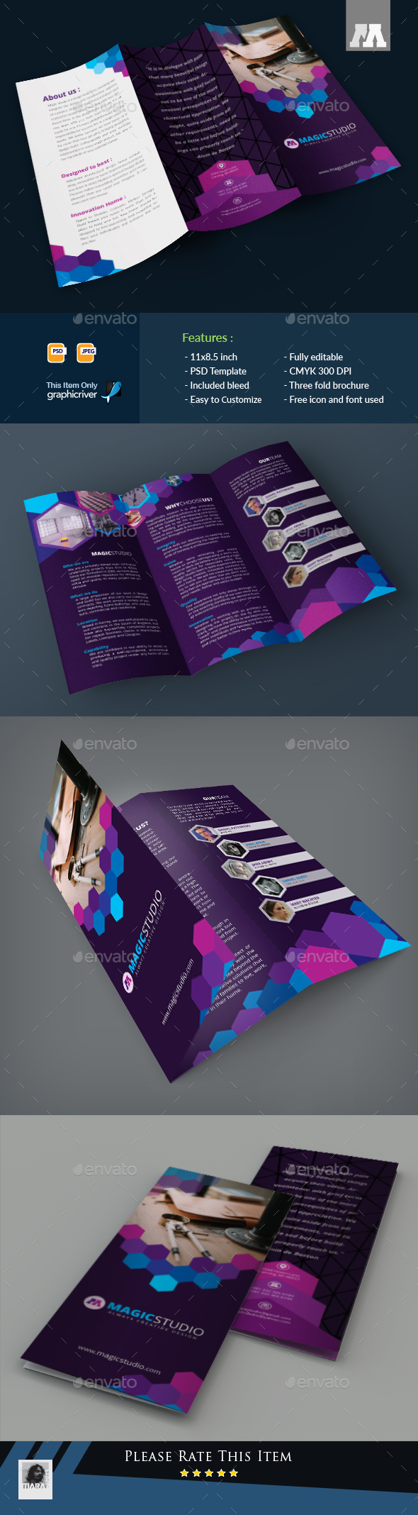 Corporate Trifold Brohure - Brochures Print Templates