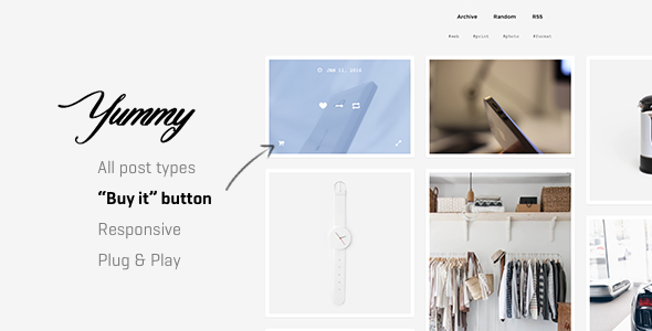 Yummy | Creative Multi-Purpose Portfolio Tumblr Theme