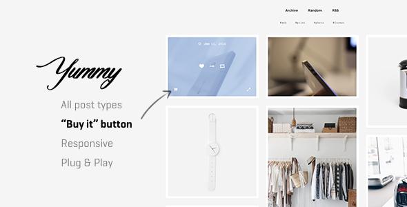 Yummy | Creative Multi-Purpose Portfolio Tumblr Theme