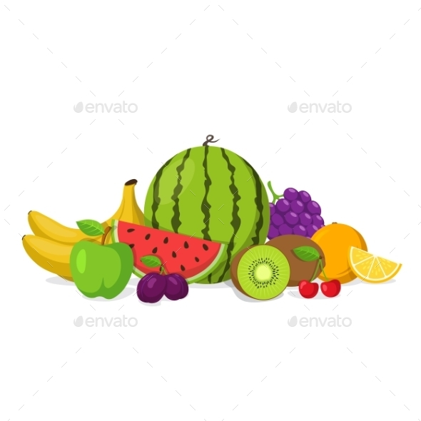 Fruits And Berries Composition. - Food Objects
