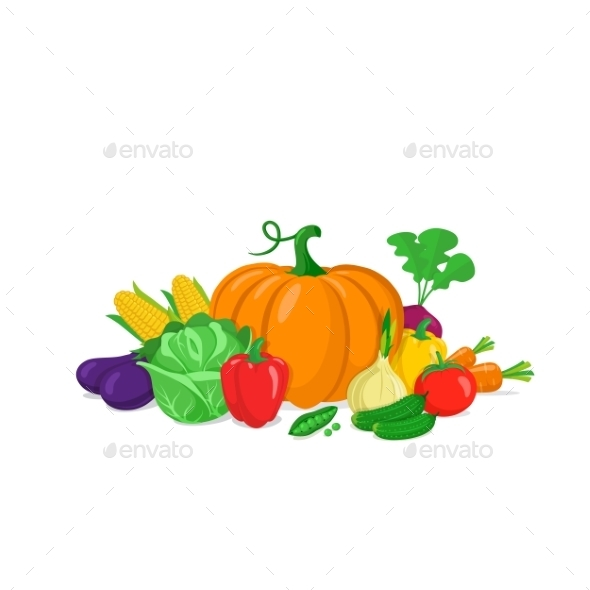 Colorful Vegetables Composition. - Food Objects