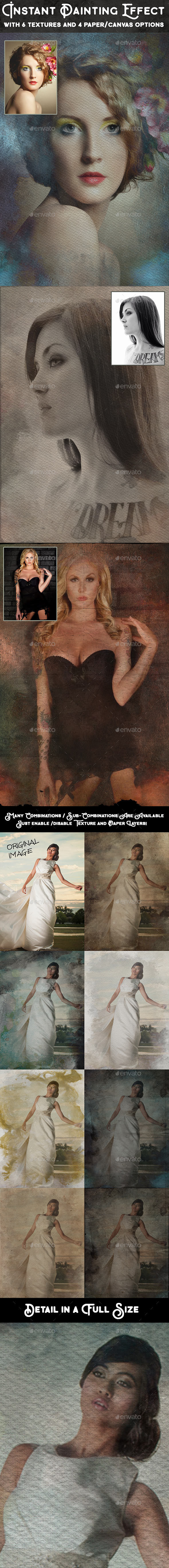 Instant Painting Photoshop Effect - Photo Templates Graphics