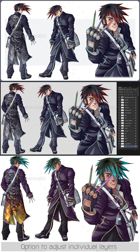 Manga Artists Character - Characters Illustrations