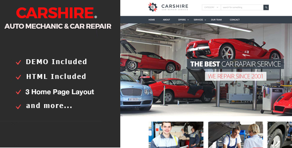 Car Shire || Auto Mechanic & Car Repair Drupal Theme - Business Corporate