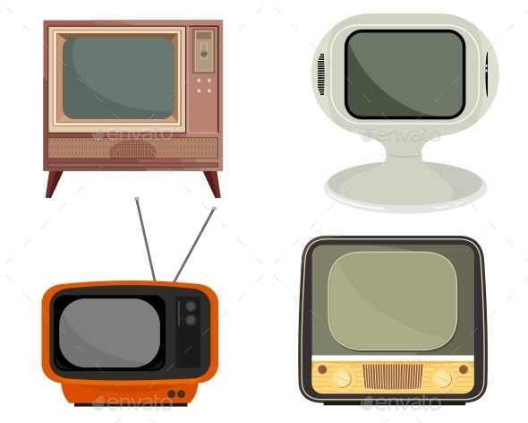 Retro TV Vector Set - Retro Technology