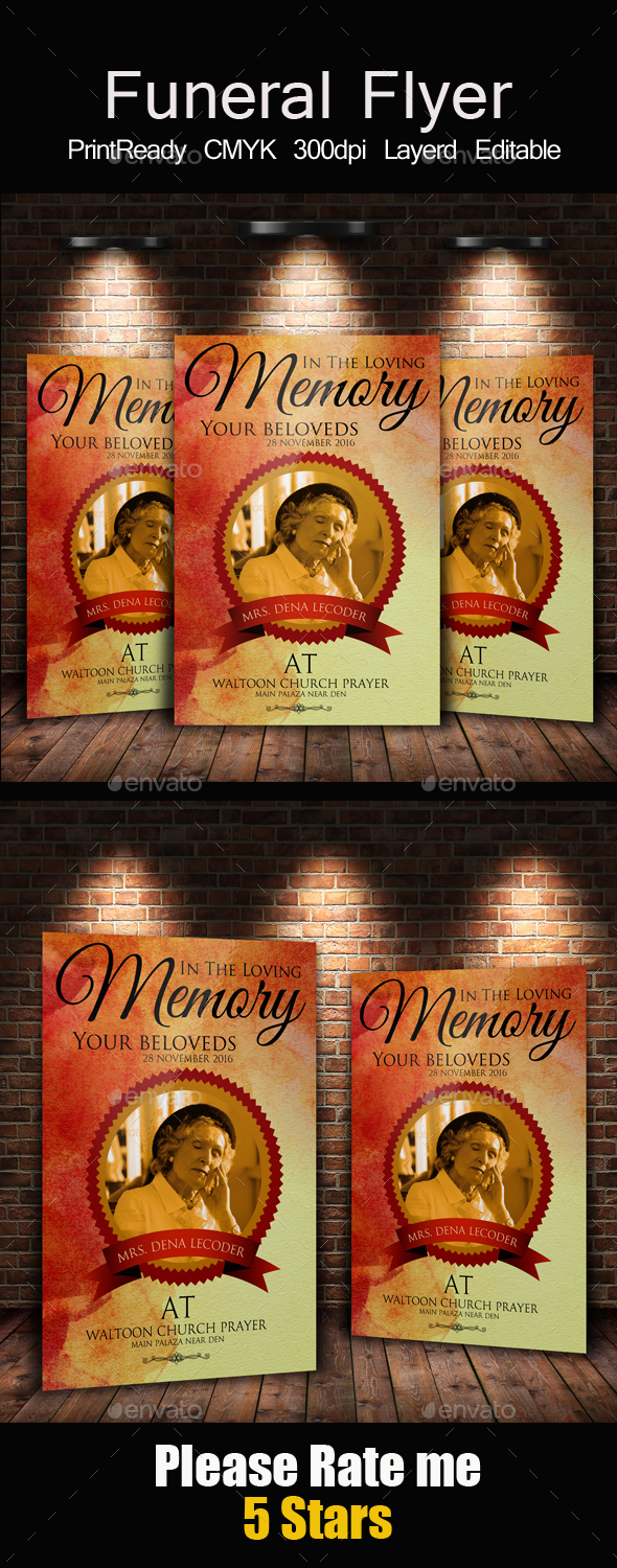 Funeral and Church Flyer Template - Church Flyers
