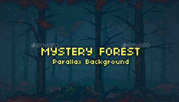 Mystery Forest Parallax Background - Backgrounds Game Assets