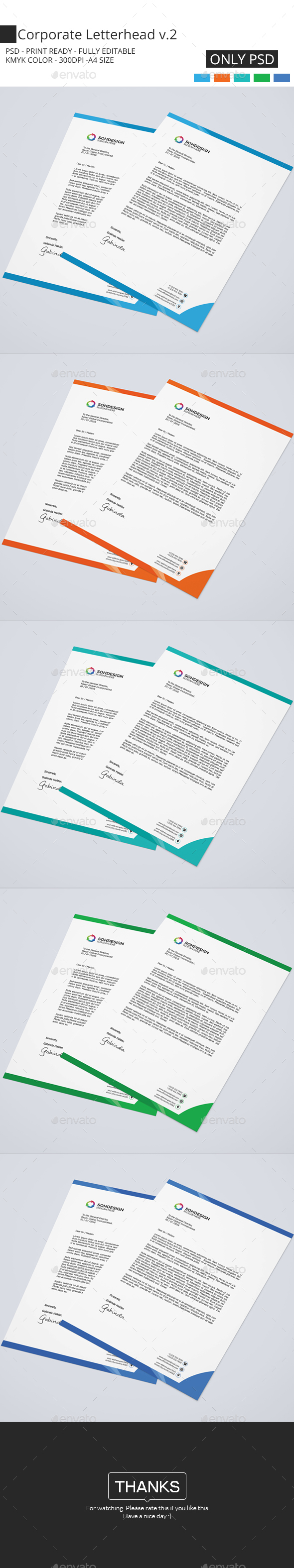Corporate Letterhead V.2 - Stationery Print Templates