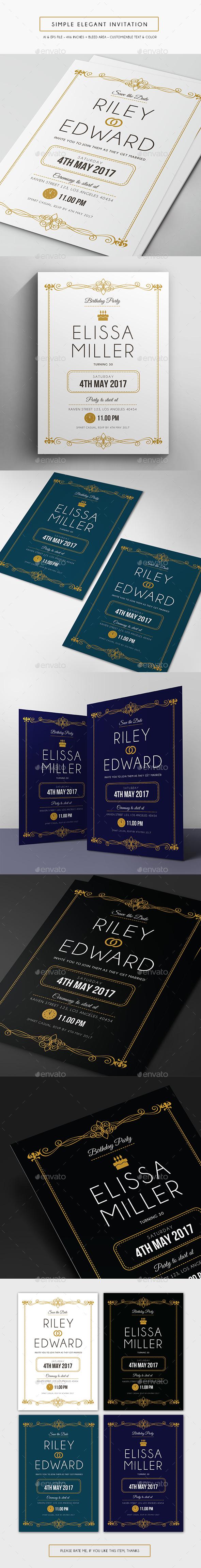 Simple Elegant Invitation - Invitations Cards & Invites