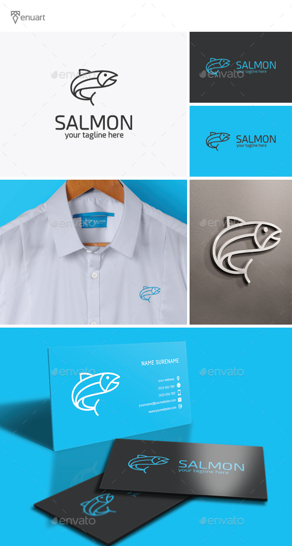 Salmon Logo - Animals Logo Templates