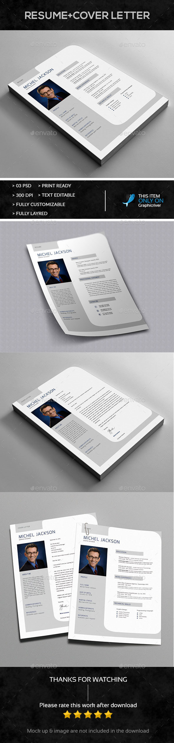 Single Page Resume Design - Resumes Stationery
