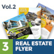 3 Clean Premium Real Estate Flyer Vol.2 - GraphicRiver Item for Sale