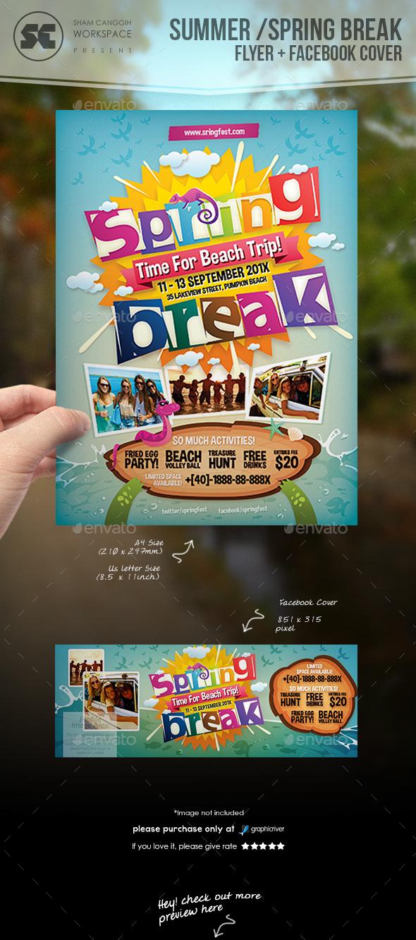 Summer / Spring Break Flyer - Holidays Events