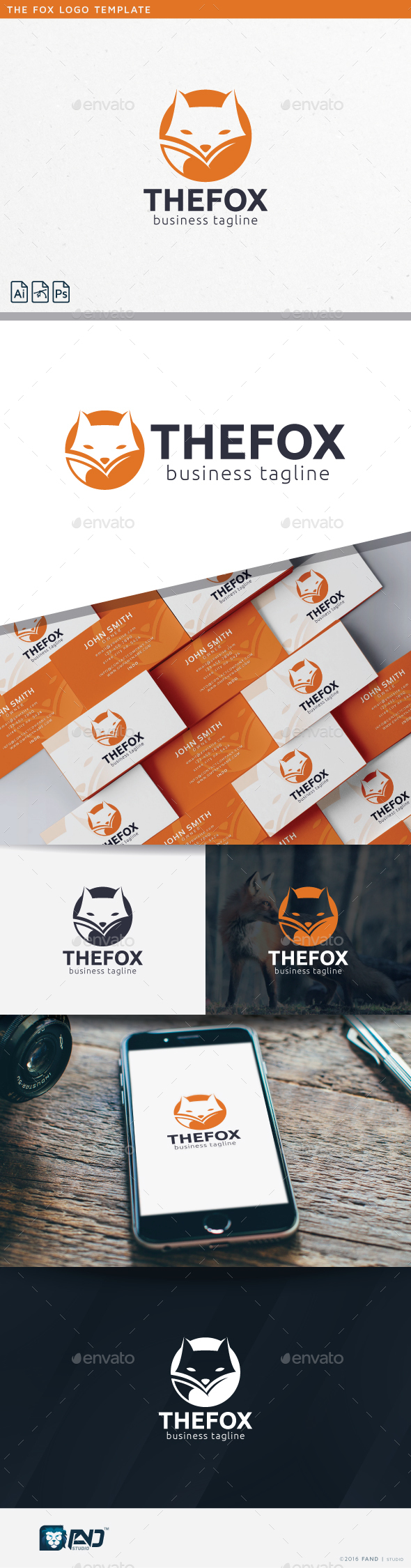 The Fox - Symbols Logo Templates