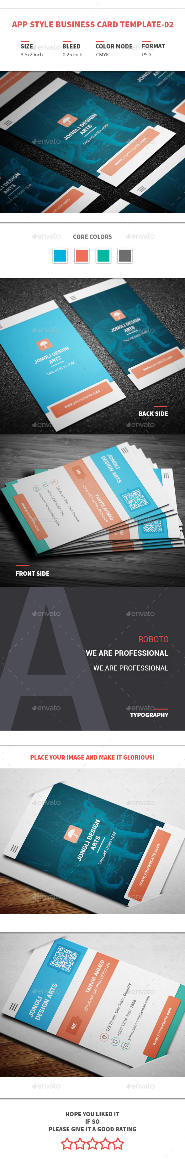 App Style Business Card Template-02 - Creative Business Cards