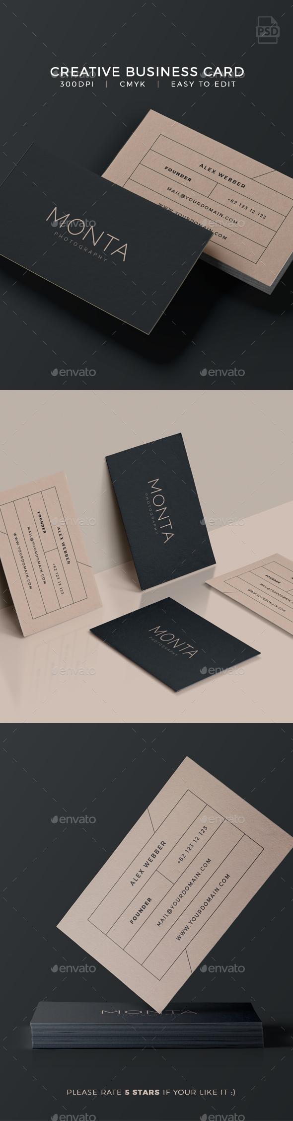 Creative Business Card - Monta - Creative Business Cards