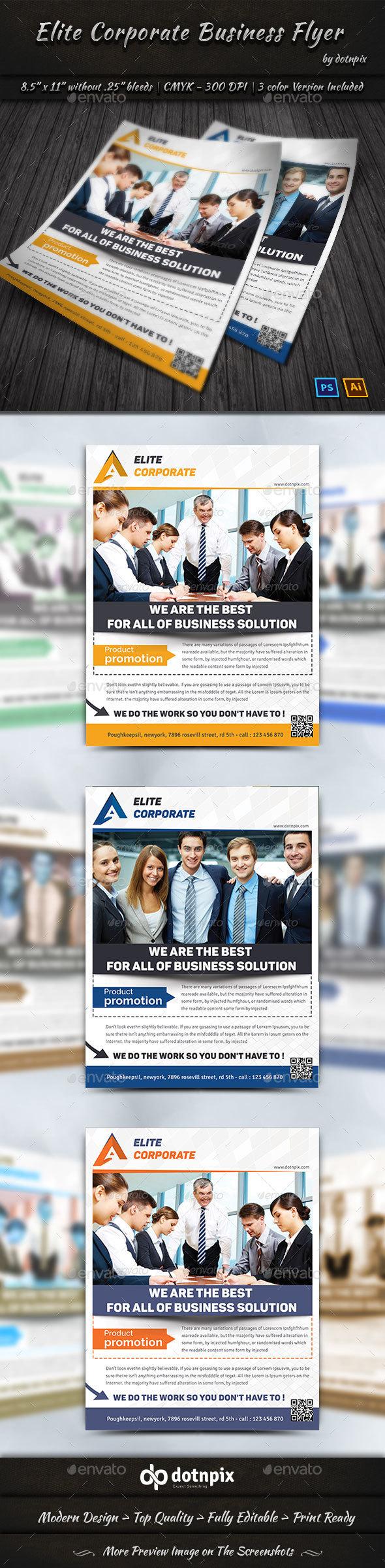 Elite Corporate Business Flyer - Corporate Flyers
