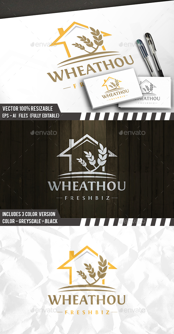 Grow House Logo - Buildings Logo Templates