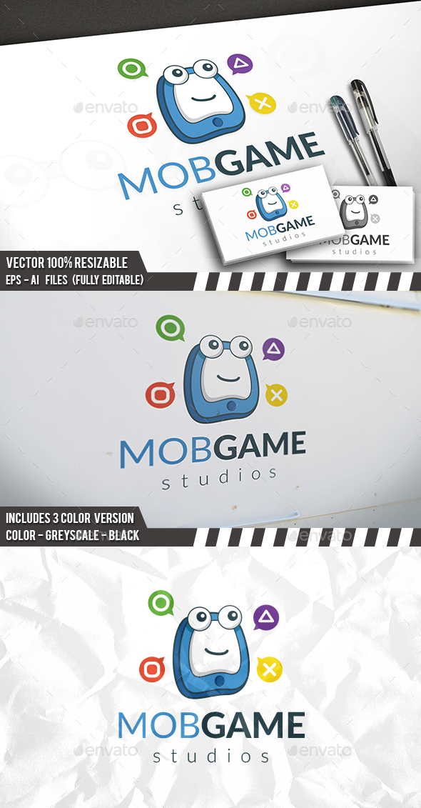 Phone Gaming Logo - Objects Logo Templates