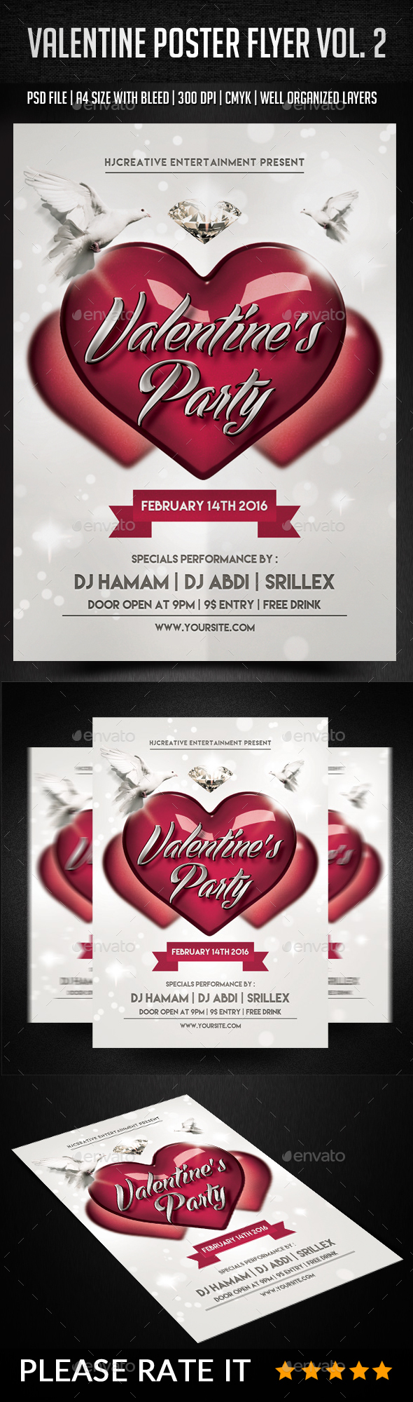 Valentine Poster Flyer Vol. 2 - Events Flyers