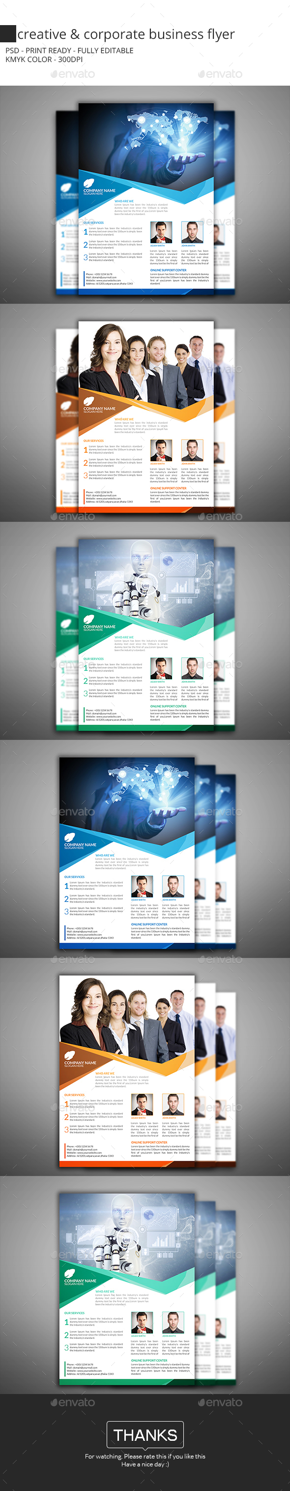 Creative & Corporate Business Flyer - Flyers Print Templates