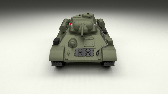 T34/76 Tank - 3DOcean Item for Sale