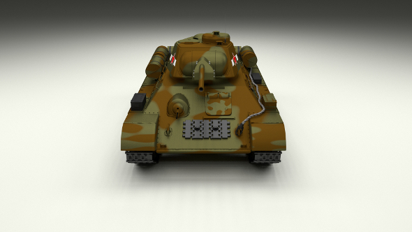 T34/76 Tank Camo - 3DOcean Item for Sale