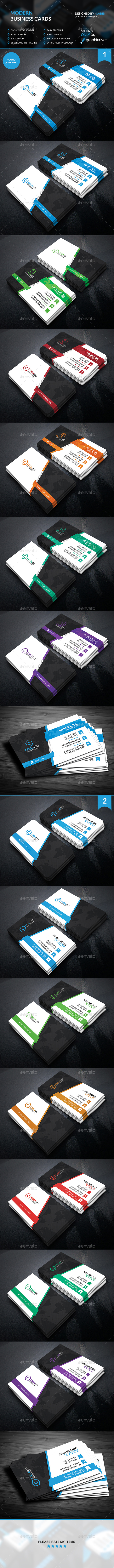 Modern Corporate Business Cards  - Creative Business Cards