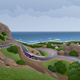 Road In The Rocks Near The Sea - GraphicRiver Item for Sale