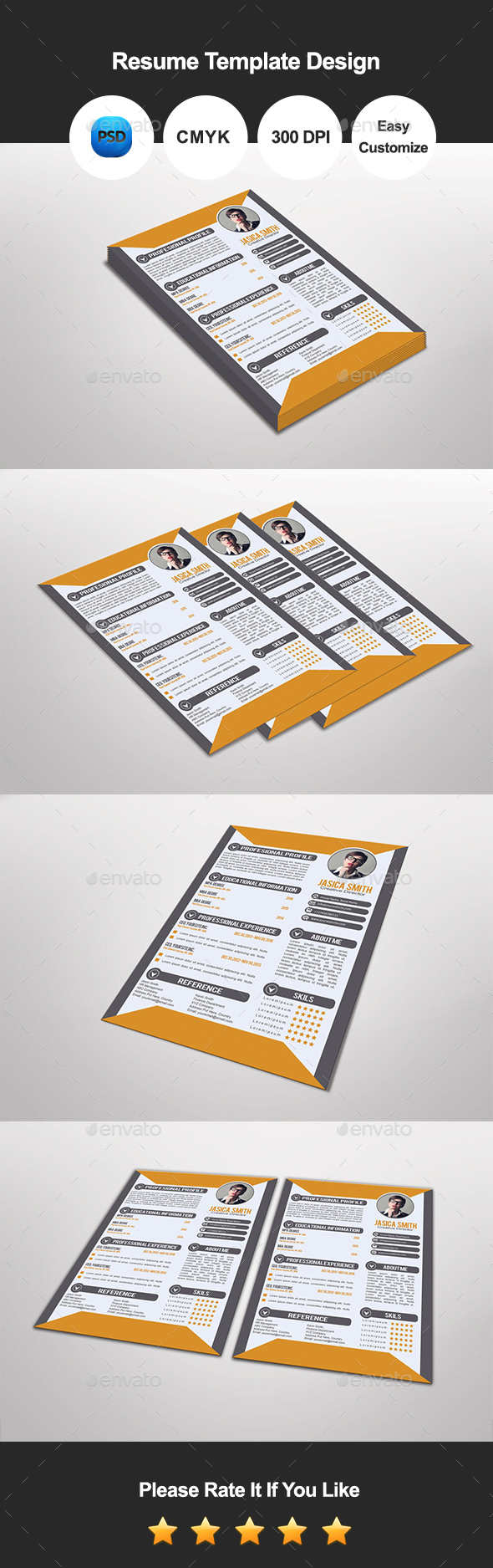 Anlix Resume Template Design - Resumes Stationery