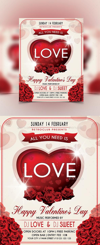 Valentine's Day Flyer - Flyers Print Templates