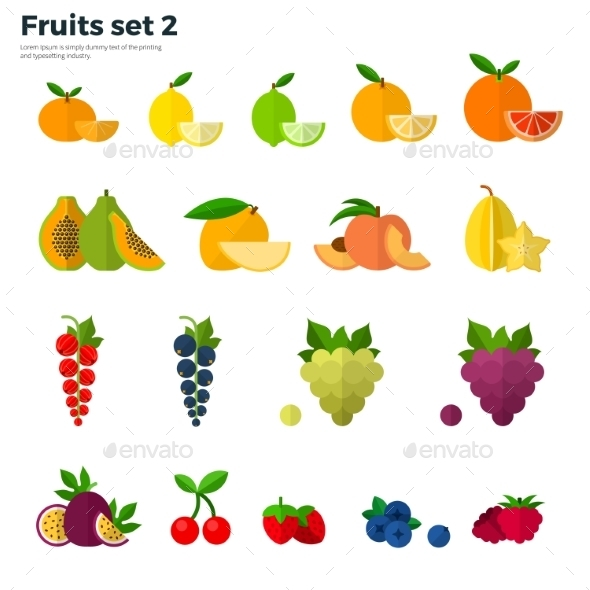 Healthy Concept Tropical Fruit On White Background - Food Objects