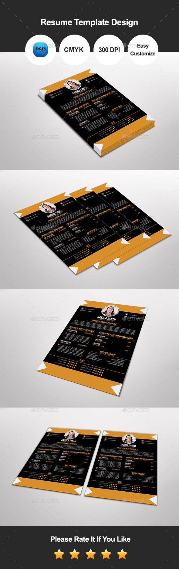 Libani Resume Template Design - Resumes Stationery