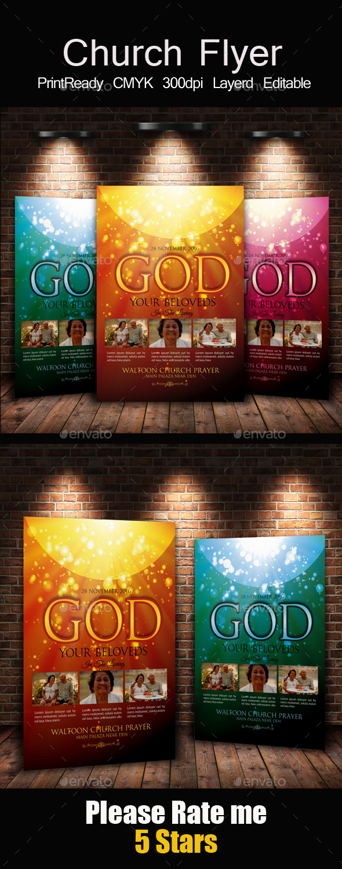 Everlasting God Church Flyer - Church Flyers