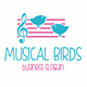 Musical Birds Logo - GraphicRiver Item for Sale