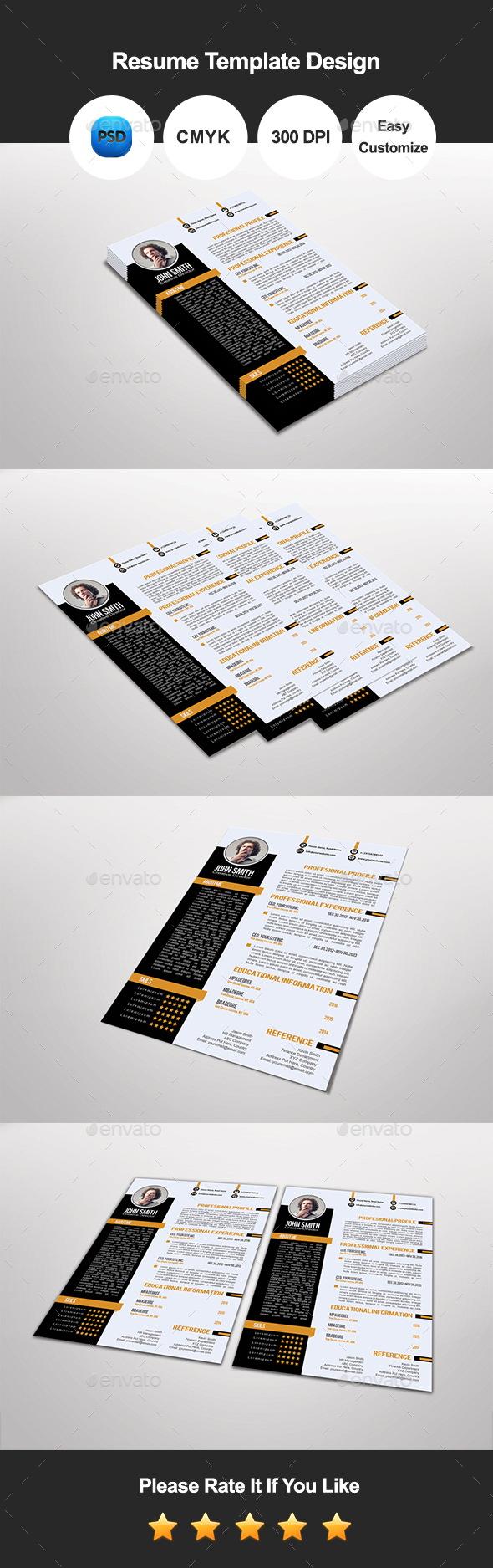 Tansa Resume Template Design - Resumes Stationery
