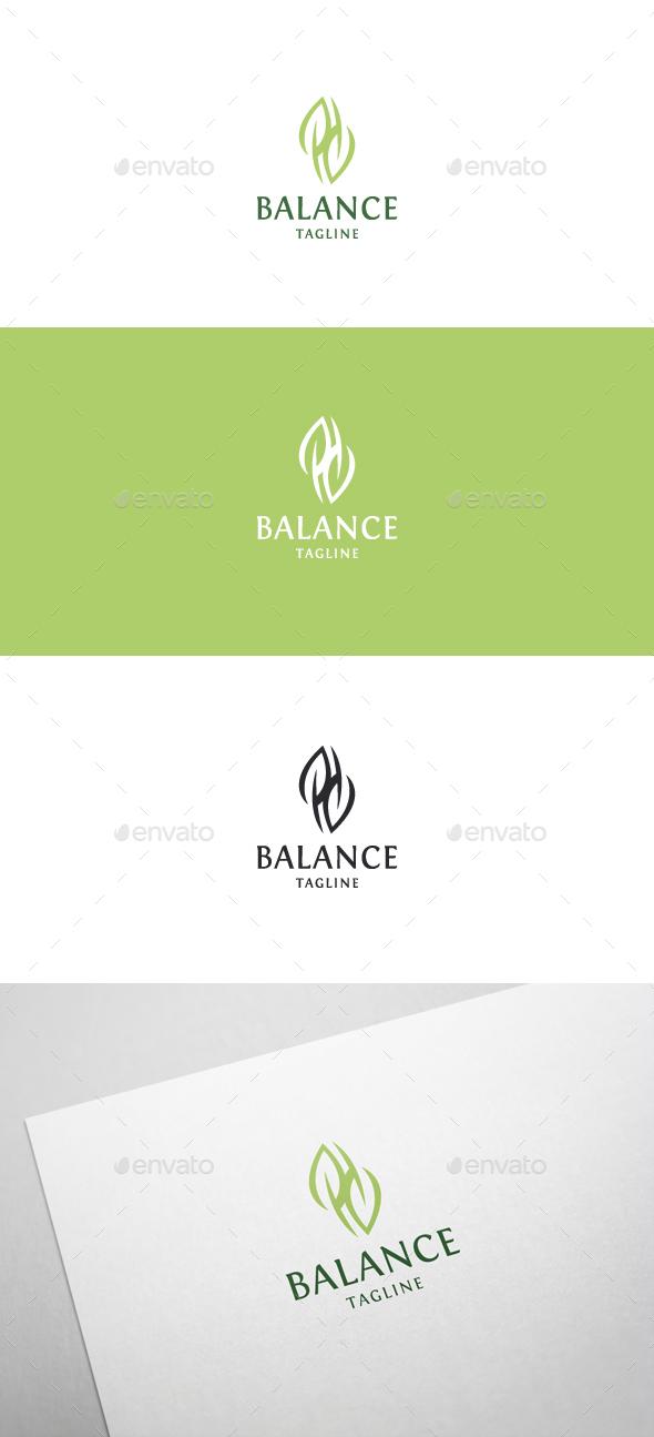 Green Balance Logo - Nature Logo Templates
