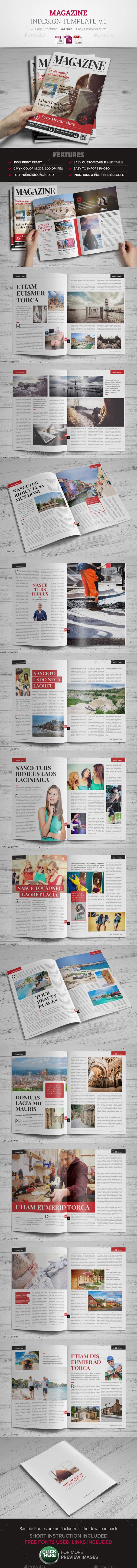Magazine InDesign Template v1  - Magazines Print Templates