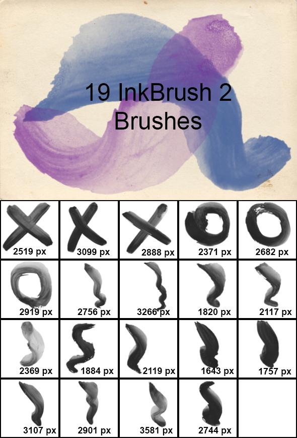 Ink Brush 2 - Artistic Brushes