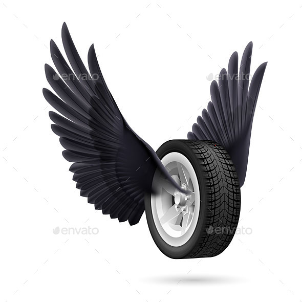 Wheel with Wings - Man-made Objects Objects